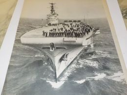 AFFICHE PHOTO PORTE AVION ARROMANCHES 1953 - Boats
