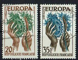 A100.004 // Frankreich 1957 // Mi. 1157/1158 O // Europa - 1957