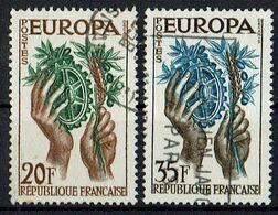 A100.005 // Frankreich 1957 // Mi. 1157/1158 O // Europa - 1957