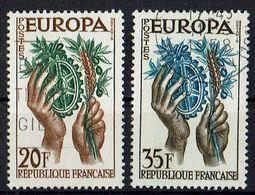 A100.006 // Frankreich 1957 // Mi. 1157/1158 O // Europa - 1957
