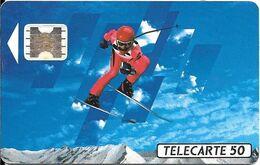 CARTE-PUBLIC-F150A-50U-SC4 Ab-S/E-TROU 6-SKIEUR2-4/91-Pe 24995-UTILISE-TBE- - 1991