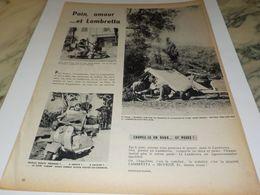ANCIENNE PUBLICITE PAIN AMOUR ET  LAMBRETTA 1958 - Moto