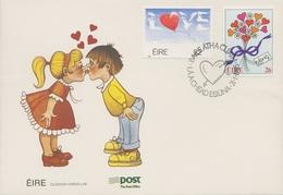 Irland 1985 Valentinstag Ersttagsbriefe 553/54 FDC (X18686) - FDC