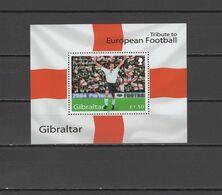 Gibraltar 2004 Football Soccer European Championship S/s MNH - Fußball-Europameisterschaft (UEFA)
