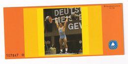 Germany 1980 Booklet: Weightlifting Gewichtheben - Pesistica
