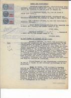 Promesse De Vente De 1950 à Monsieur BASTIDE D'un Appartement à Paris, 13 Rue E Renan Avec 3 Timbres Fiscaux - Revenue Stamps