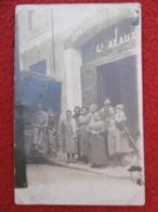 ALAUX LOUIS CHIFFONS METAUX PARIS 44 RUE AUX FERS CARTE PHOTO - Mercanti