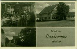AK GERMANY - GRUS AUS BISCHWEIER - - GASTAUS ZUM KREUZ - BES ANNA MACK WWE. - 1950s  (BG9595) - Deutschland