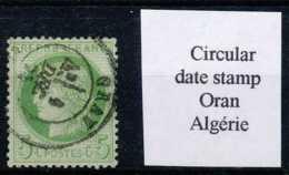 [100131]TB//O/Used-N° 53, 5c Vert-jaune, Double Cercle Central, Cachet à Date Venant De 'Oran'. - 1871-1875 Cérès
