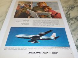 ANCIENNE PUBLICITE AVION BOEING 707  ET 720 1959 - Advertising