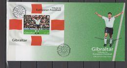 Gibraltar 2004 Football Soccer European Championship S/s On FDC - Fußball-Europameisterschaft (UEFA)