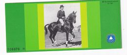 Germany 1980 Booklet: Equestrian Dressage; Dresure; Olympic Games 1980: Horses - Reitsport