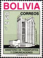 """Bolivia 1988. CEFIBOL 1322 Inauguración Del Edificio """"Palacio De Comunicaciones"""". - Bolivia"""