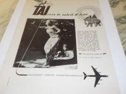 ANCIENNE PUBLICITE VRES LE SOLEIL D ASIE  TAI 1959 - Advertisements