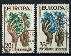 A100.007 // Frankreich 1957 // Mi. 1157/1158 O // Europa - 1957