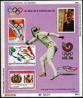 Bolivia 1988 CEFIBOL 1326,  De Juegos Olímpicos De Verano En Seúl.a Barcelona 92. Esgrima - Bolivia