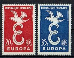 A100.010 // Frankreich 1958 // Mi. 1210/1211 ** // Europa - Europa-CEPT