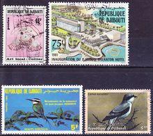 Djibouti 1978-2000 Lot Of Mi 429 MNH ** And Mi 218, 316, 775 Real Used O - Djibouti (1977-...)