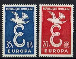 A100.011 // Frankreich 1958 // Mi. 1210/1211 ** // Europa - Europa-CEPT
