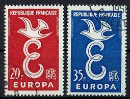 A100.012 // Frankreich 1958 // Mi. 1210/1211 O // Europa - Europa-CEPT
