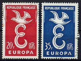 A100.013 // Frankreich 1958 // Mi. 1210/1211 O // Europa - Europa-CEPT