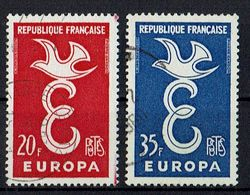 A100.014 // Frankreich 1958 // Mi. 1210/1211 O // Europa - Europa-CEPT