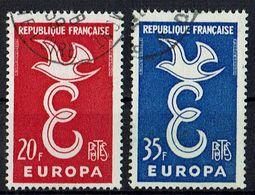 A100.015 // Frankreich 1958 // Mi. 1210/1211 O // Europa - Europa-CEPT