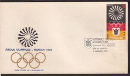 Uruguay - 1972 - FDC - Jeux Olympiques - Munich 1972 - A1RR2 - Sommer 1972: München
