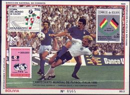 Bolivia 1989 CEFIBOL 1328,  Copa Del Mundo Italia 1990. Fútbol. Final Italia Alemania En España 82. - Bolivia