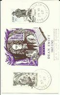 IRELAND 1967 DEAN SWIFT POSTCARD FDI - 1949-... Republic Of Ireland