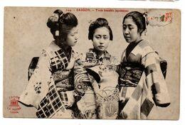 Vietnam -- 1919 -- Trois Beautés Japonaises   --- Animée -- ................à Saisir - Vietnam