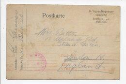 G 6 - GREAVES George (Prisoner Of War) To Mrs BETTS Uplands Rd, Strand Green, London N - Genealogia