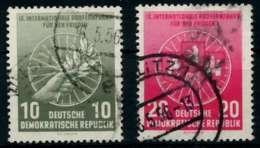 DDR 1956 Nr 521-522 Gestempelt X8BECE6 - [6] República Democrática