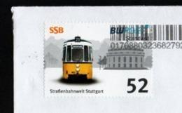 """BRD - Privatpost - BW Post - Straßenbahnwelt Stuttgart / Deutsche Post """"FRANKIT"""" - Tramways"""