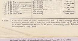 Ireland Railways Kildare Curragh Horse Races Mayo Ballymacward Telegraph Office Latton Monaghan UTT - Ireland
