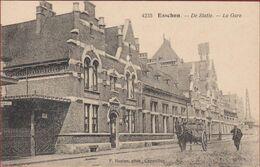 Essen Esschen De Statie Station La Gare Geanimeerd Antwerpse Kempen Antwerpen Hoelen Cappellen (In Zeer Goede Staat) - Essen