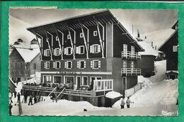 """L'Alpe D'Huez (38) Sports D'Hiver """"Bar Du Soleil"""" """"Hôtel De L'Eclose"""" 2scans 09-04-1957 (Longuyon 54) - Frankrijk"""