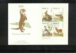 Ireland 1980 Animals FDC - Game