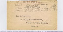 Ireland Galway SAORSTAT EIREANN Free Postage 1923 Land Commission GAILLIMH 29OCT23 - Ireland