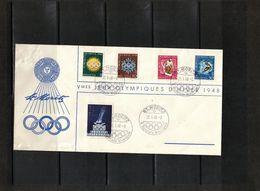 Switzerland / Schweiz + Austria 1948 Olympic Games St.Moritz Interesting Letter - Inverno1948: St-Moritz