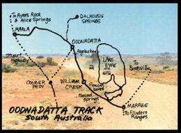 (I 11) Australia - WA - Oodnadatta Track Map - Australia