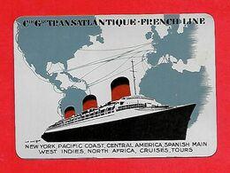 Calendrier 1937 - Cie Générale Transatlantique; French Line -Bâteau, Paquebot - Calendriers