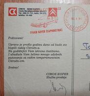 Cimos Koper - Citroen - Cestitka Povodom Godisnjice Od Kupovine Vozila...Bravo!!! - Slowenien