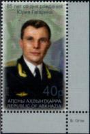 Abkhazia 2019. 85th Birth Anniversary Of Yuri Gagarin.  1v Perforated  Quality:100% - Ongebruikt