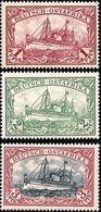 + GERMAN EAST AFRICA / DEUTSCH OSTAFRIKA : Mi #19-21 Sc #19-21 Ship / Bateau / Yacht Hohenzollern (1901) MH * Neufs SALE - Kolonie: Duits Oost-Afrika