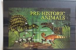 Grenada 5328-5331 ** Postfrisch Als Kleinbogen Dinosaurier #TF605 - Reptiles & Amphibians