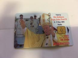 (I 15) Phonecard - Carte De Téléphone - Malta - Pope John Paul II / Pape Jean Paul II - Malte