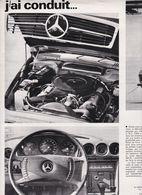 Feuillet De Magazine Mercedes 350 SLC 1971 - Cars