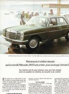 Feuillet De Magazine Mercedes 240 D 1973 - Cars
