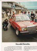 Feuillet De Magazine Mercedes 2.5 Litres, 14 Cv Fiscaux 1976 - Cars